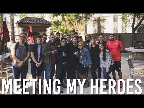MEETING MY HEROES!! FIRST STUDENT/SUBSCRIBER MEET UP IN LOS ANGELES! (50,000 SUB HYPE!)