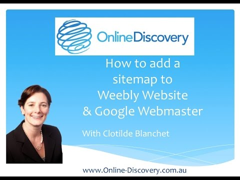 How to submit a weebly website sitemap to google webmaster