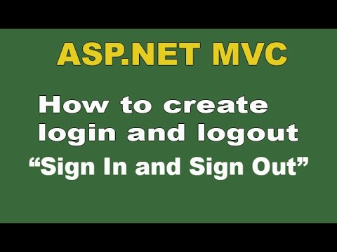 How to create login and logout in Asp.Net MVC