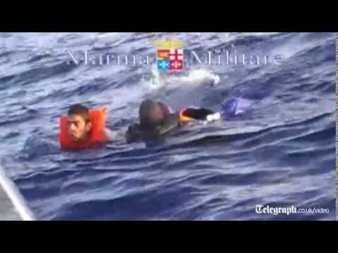 Dramatic rescue of capsized Lampedusa migrants