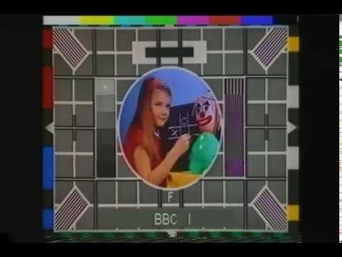 BBC Color Test Card  Transmission Vintage British TV Commerical 1970's