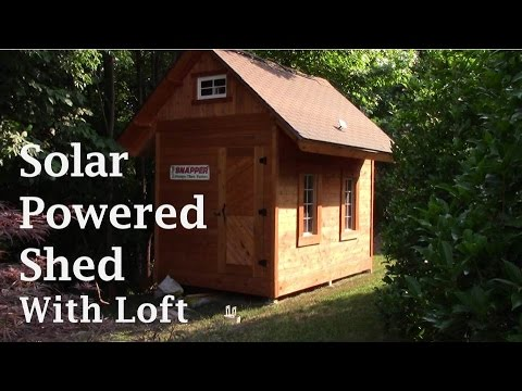 Pole Barn / Shed with loft, cedar siding, and solar light!