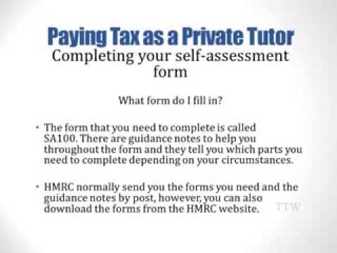 Paying Tax as a Private Tutor
