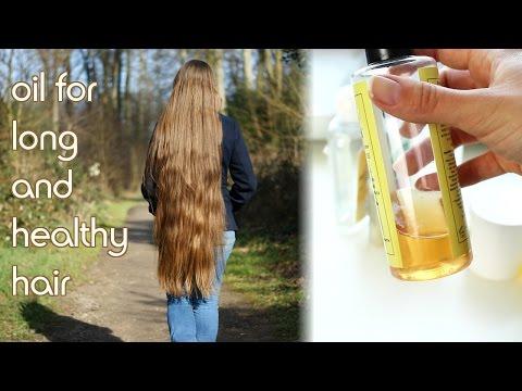 Grow long and healthy hair using oil   How I use oil on my kneelong hair