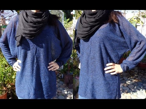 Fashion DIY How to make Super Easy and Quick Sweater