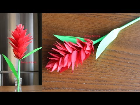 How To Make Red Ginger Paper Flower - Paper craft - Handcraft