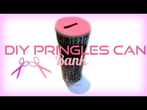 DIY Pringles Can Piggy Bank! SO SIMPLE
