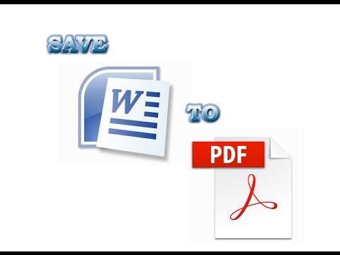 Microsoft word 2007 training | Convert word 2007 to PDF.