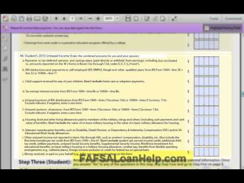How to fill out the FAFSA - Steps 1 - 7