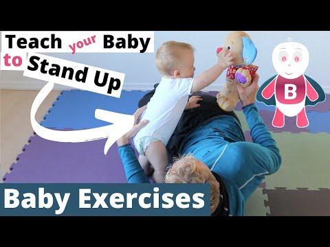 How to Teach Baby to Stand Up - Baby Exercises #6-9 Months - Baby Activities, Baby Development