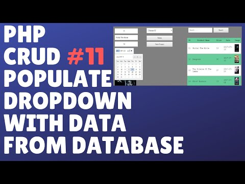 PHP ONLINE SYSTEM COMPLETE TUTORIAL PART 11 - POPULATE DROPDOWN WITH DATA FROM DATABASE
