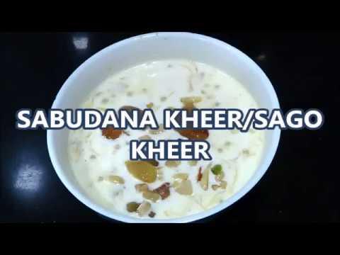Sabudana Kheer / Sago Kheer / Tapioca Kheer