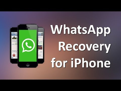 How to Retrieve Deleted WhatsApp Messages on iPhone X/8/7/6s Plus