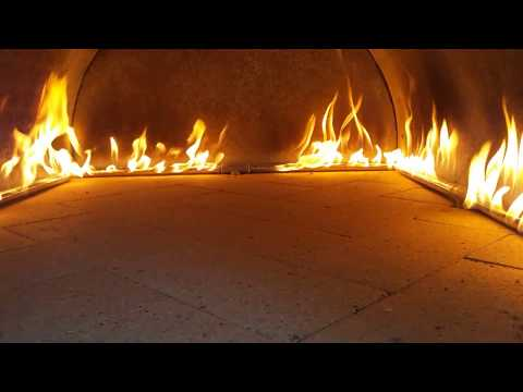 Propane Pizza Oven Burner in the Cortile Barile Outdoor Pizza Oven by BrickWood Ovens