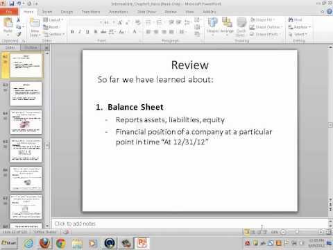 Intermediate Accounting I (Balance Sheet; Statement of Cash Flows 1) - Rebecca Bloch