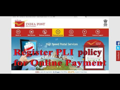 How to Register PLI Policy in India Post Portal for online payment