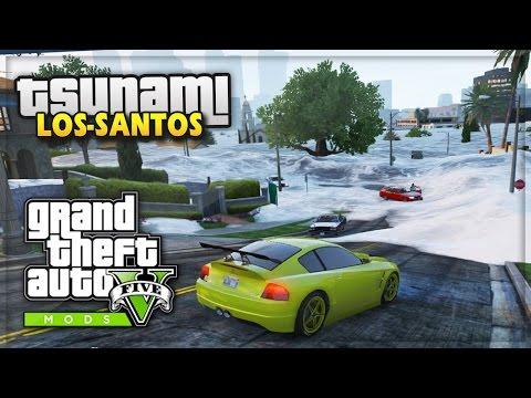 GTA 5 TSUNAMI MOD GAMEPLAY! - GTA 5 PC Mods LIVESTREAM (iCrazyTeddy)