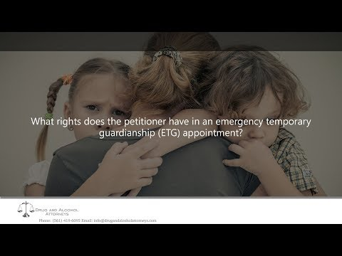 What rights does the petitioner have in an emergency temporary guardianship (ETG) appointment?