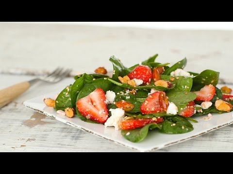 Strawberry Spinach Salad with Almonds - Everyday Food with Sarah Carey