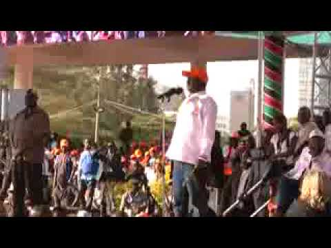 Rails Odinga's latest hottest speech to his supporters