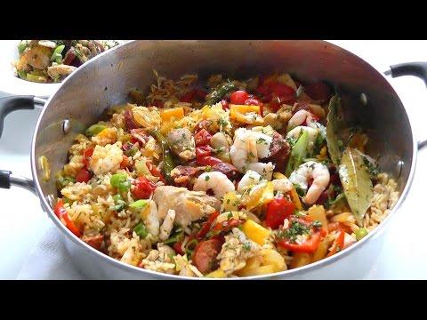 How to cook JAMBALAYA recipe easy One Pot Dish Paella?