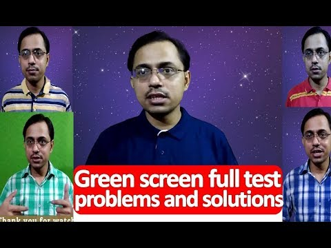 Green screen Effect full on test? which dress is best for green screen effect? chroma key, Hindi