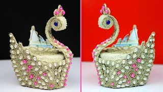 Download WoW ! What an Amazing DIY Peacock Showpiece! Handcraft diy projects - Showpiece making using jute Video