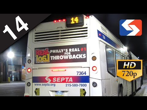 SEPTA Ride: 2015 NovaBUS LFS Articulated #7364 on route 14 to Neshaminy Mall