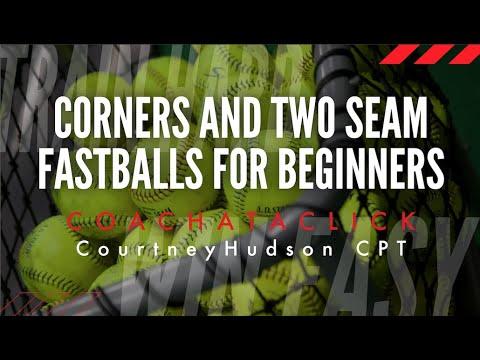 Corners and 2 Seam Fastballs for Beginner Softball Pitchers