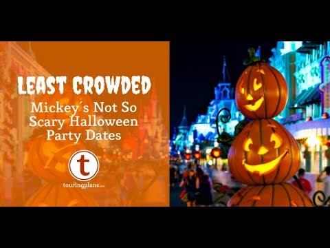 Finding the Least Crowded Mickey's Not-So-Scary Halloween Party in 2018
