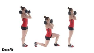 The Dumbbell Front Rack Lunge