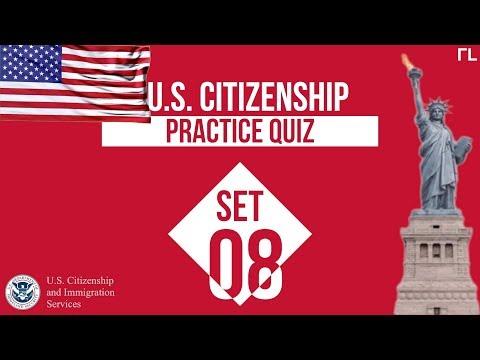 US Citizenship Practice Quiz (Set 8)