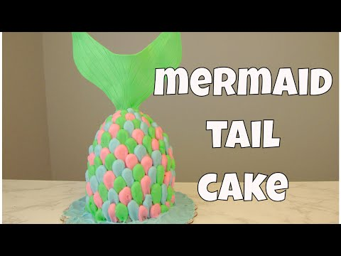How to make a MERMAID TAIL CAKE with buttercream frosting   Sweetwater Cakes