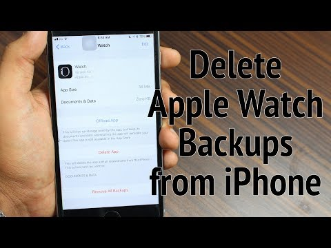 How to Delete Apple Watch Backups from iPhone