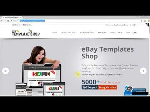 eBay Listing Template  - HTML Editor