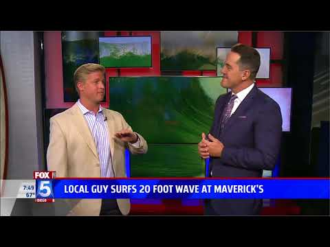 FOX  5 San Diego Features Hunter Lysaught Surfing 20-Foot Wave on Legendary Mavericks Opening Day