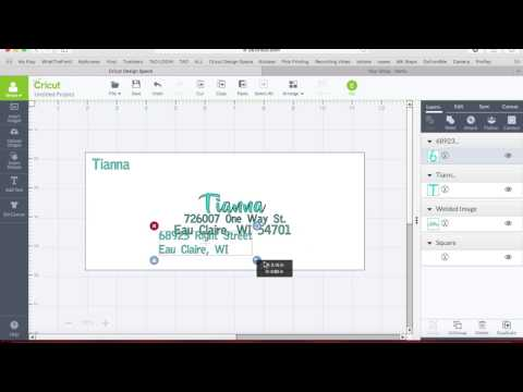 Adressing an Envelope in Cricut Design Space