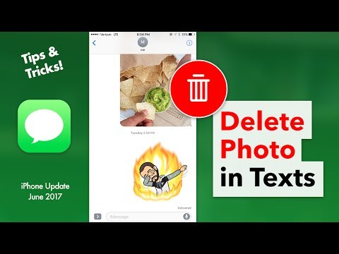 How to Delete a Photo in Your Texts - Delete Messages Attachment iPhone