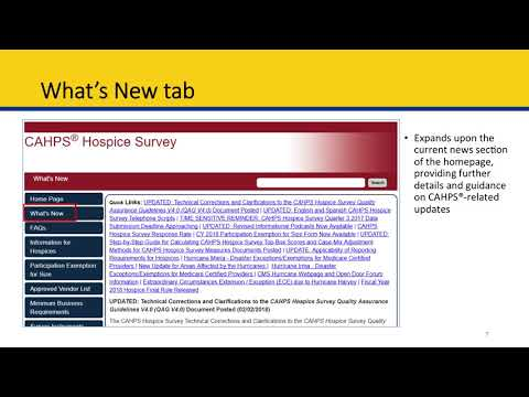 Module 3 Learning How to use the CAHPS Survey Website