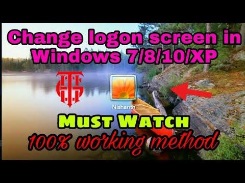 How to change logon screen wallpaper in Windows 7/8/10/XP