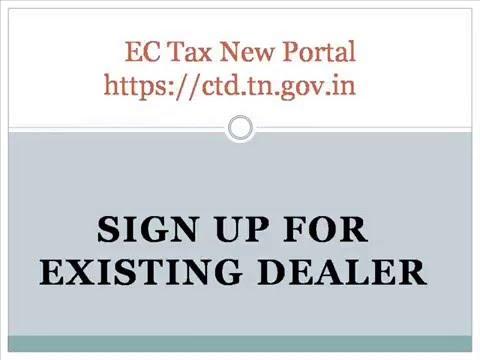 TNVAT new filing procedures Existing Dealer