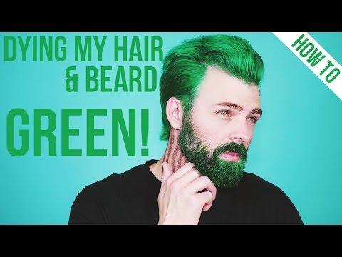 Dying My Hair & Beard Green using Arctic Fox Hair Color | TheRyanMorgan