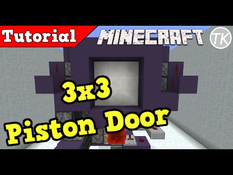 How to Build a Extremely Fast 3x3 Piston Door! Minecraft 1.12