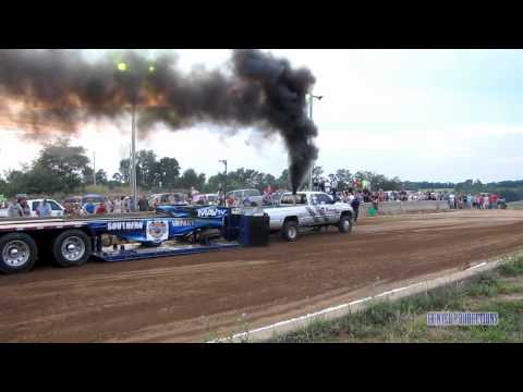 Stock Diesel Truck Pull Rolling Coal