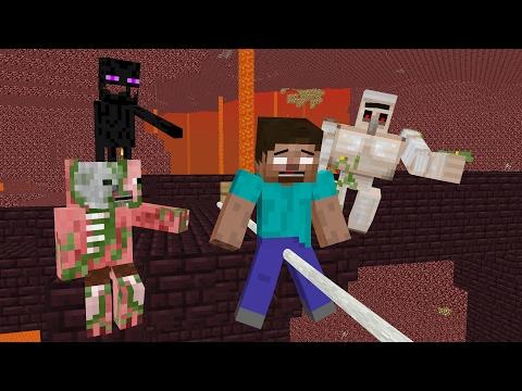 Monster School: Slackline Challenge - Minecraft Animation