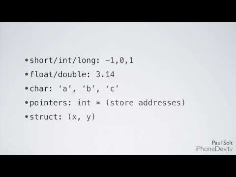2 Lecture - Variables and Types in Objective-C for iOS 7 Apps