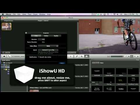 iMovie 2009: Slow Motion & Fast Motion Tutorial