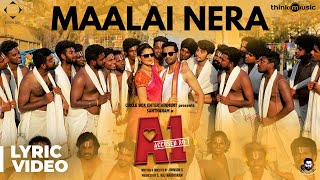 A1 | Maalai Nera Mallipoo Song Lyric Video | Santhanam, Tara | Santhosh Narayanan | Johnson K
