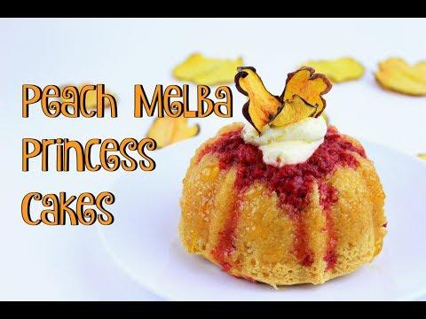 Peach Melba Princess Cakes || Gretchen's Bakery