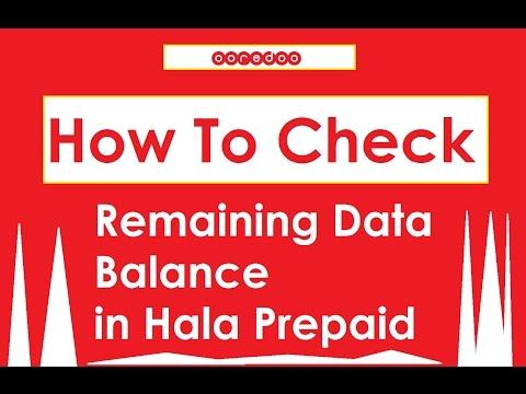 Check Remaining Balance in Hala Ooredoo Qatar
